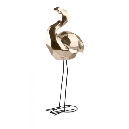 Interjero detalė paukštis GOLD, auksinis, 20x12 x 52(A) cm